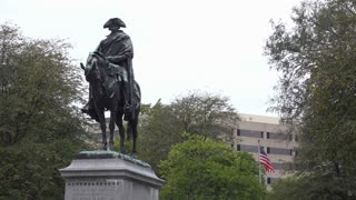 George Washington on horseback in Square Park Kansas City 4k