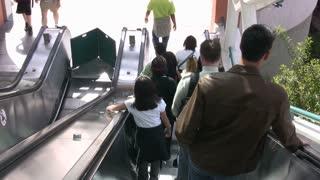 Getting Off Escalator