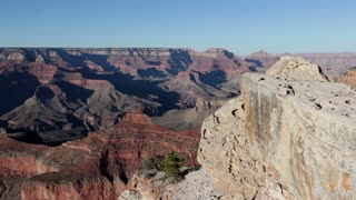 Giant rock formations in the Grand Canyon