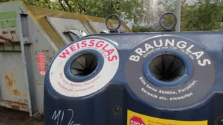 Glass recycling bin in Germany