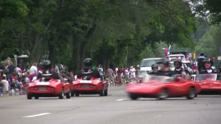 Go-cart Gang in Parade