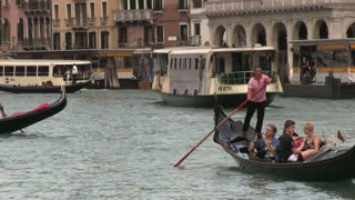 Gondola rides on Venice City canals