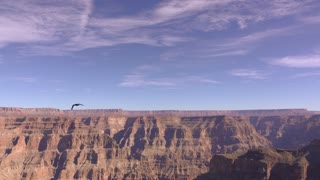 Grand Canyon on beautiful blue sky day 4k