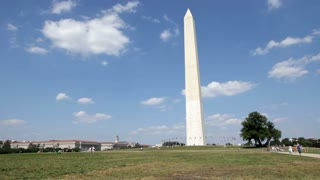 Grass Field in front of washington monument