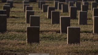 Graves of the unknown burial stones in graveyard 4k