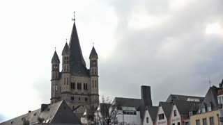 Great St Martin Church in Cologne German 4k