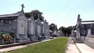 Greenwood Cemetery in New Orleans Louisiana 4k