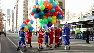 Group of clowns in Macy's parade