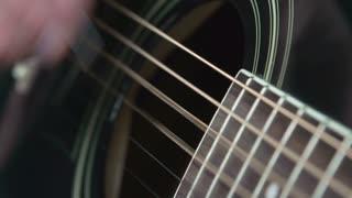 Guitar string close up shot