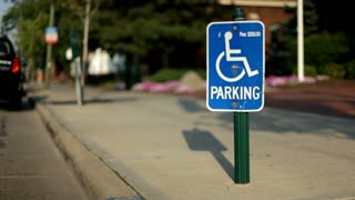 Handicap Parking sign in City