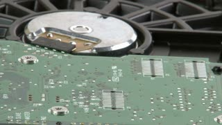 Hard drive details close up