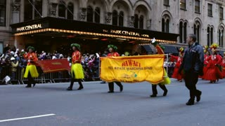 Hawaii all state marching band in Macy's parade