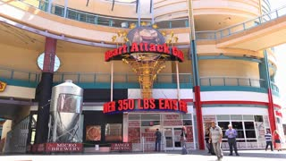 Heart Attack Grill in downtown Fremont street Las Vegas 4k