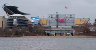 Heinz Field Establishing Shot of Football Stadium 4k