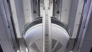 High Roller pod coming through loading dock Las Vegas 4k