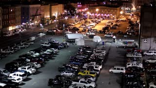 High View of Parking lot at Night