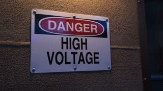 High Voltage sign with shake