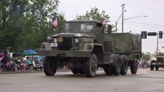 Historic Society vehicles in 4th of July parade 4k