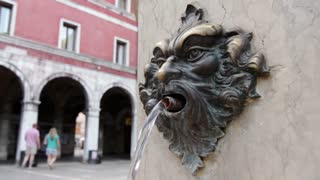 Historic water fountain in Venice Italy