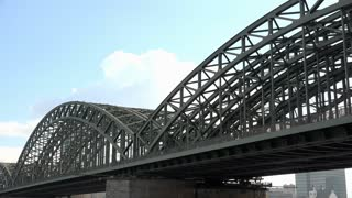 Hohenzollern Bridge in Cologne Germany 4k