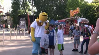 Homer Simpson at Universal Studios