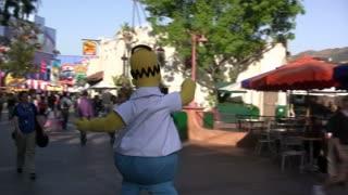 Homer Simpson Walking through Park