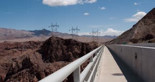 Hoover Dam bypass to water shot 4k
