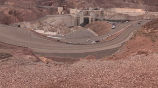 Hoover Dam establishing tilt shot 4k