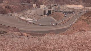 Hoover Dam establishing tilt shot 4k