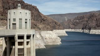 Hoover Dam Tower in Lake Mead
