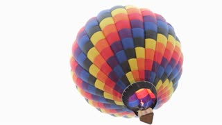 Hot air balloon seen from ground