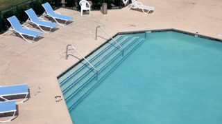 Hotel Swimming Pool from above