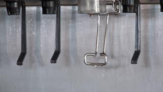 Ice dispenser on soda fountain machine 4k