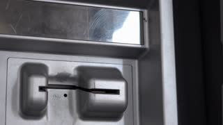 Inserting and removing debit card from ATM 4k
