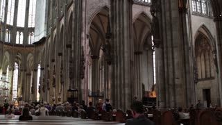 Inside of Cologne Cathedral in Germany