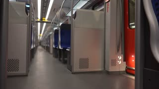 Inside U-bahn in Frankfurt Germany 4k