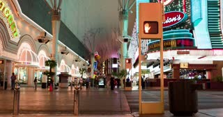 Intersection on dowtown Fremont Street 4k