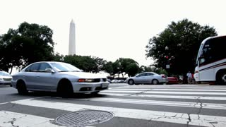 Intersection with Washington Monument in background