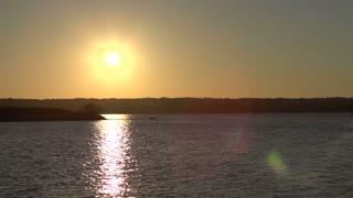 Island with a beautiful sunset