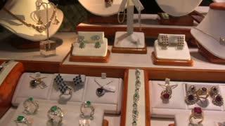 Jewelry in Showcase Window