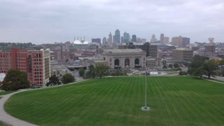 Kansas City City skyline city establishing shot 4k