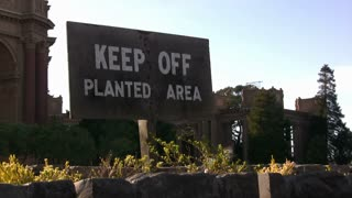 Keep Off Planted Area Sign
