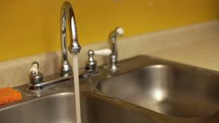 Kitchen Sink with running water slider shot