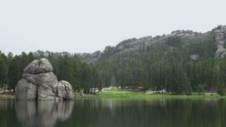 Lake Sylvan at Custer Park pan shot