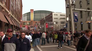 Large group of People in Indianapolis Super Bowl 46