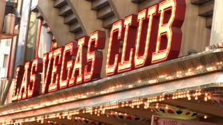Las Vegas Club and Casino sign on Fremont Street
