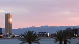 Las Vegas Hotel Sunset Pan