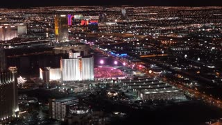 Las Vegas Strip Hotels seen from aerial view