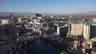 Las Vegas strip overview from above 4k