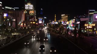 Las Vegas traffic going down main strip